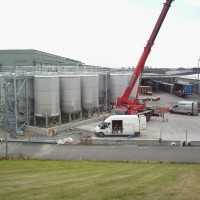 Installation Storage Tanks at bottling plant