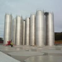 Installing New Bulk Storage Tanksat bottling plant